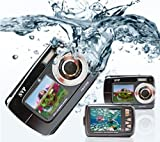 SVP Dual Screen 18MP Aqua5500 Black (with Micro4GB) Waterproof Camera