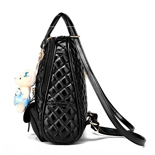 generisch - Bolso mochila  de cuero sintético para mujer negro