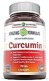 Amazing Formulas- Curcumin 700 Mg (Curcumin Extract 95% 665 mg) 120 Vegetarian Capsules – Anti-Oxidant & Anti-inflammatory properties, Supports cardiovascular & Joint health& healthy weight management