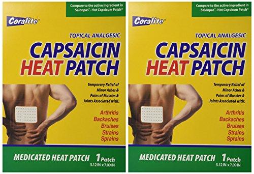 Coralite Capsaicin Hot Patch Bulk Case of (Salonpas Hot Capsicum Patch)