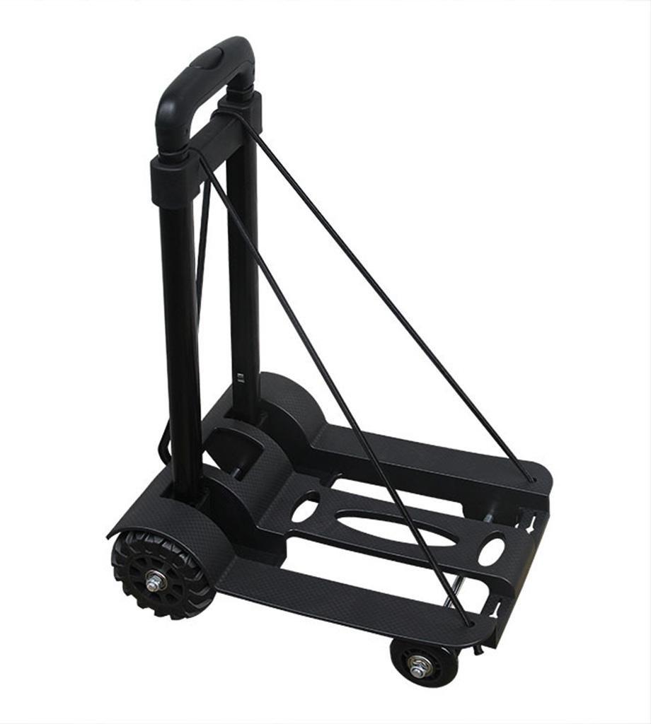 SSQCXO Super fort et durable Pliable Portable Voyage Achats Chariot de 4 roues Le poids acceptable est 75kg