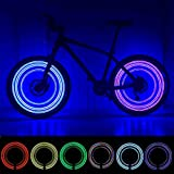 MAGINOVO 2 Pack Led Bike Wheel Light | Waterproof Bicycle Tire Light | Safety Battery Spoke Lights | Cool Bike Accessories and Decoration for bicyclers to Ride at Night