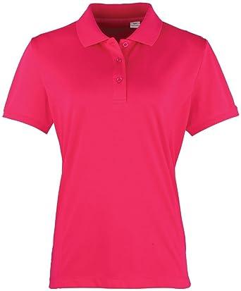 Premier - Polo - para mujer Rosa hot pink: Amazon.es: Ropa y ...