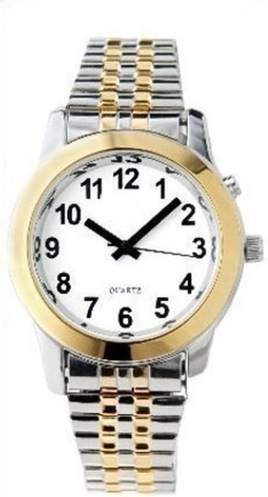Ladies Deluxe Talking Wrist Watch Two Tone