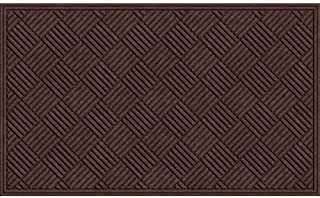 product image for Apache Mills Textures Crosshatch Entrance Mat, Chocolate, 3-Feet by 5-Feet