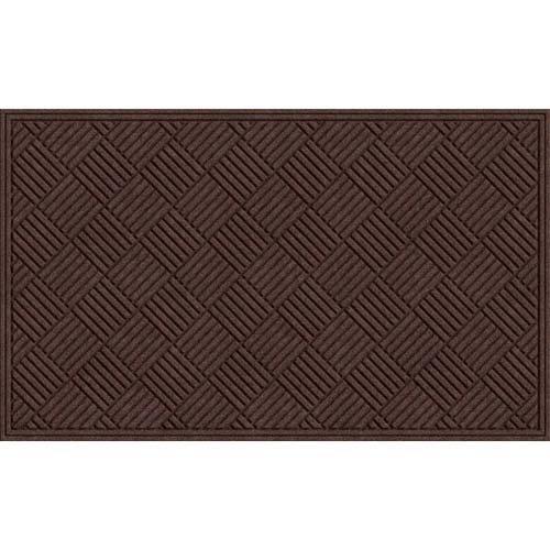 Apache Mills Textures Crosshatch Entrance Mat, Chocolate, 3-Feet by 5-Feet