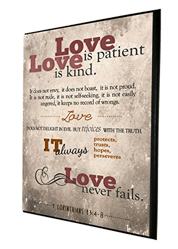 Love Is Patient, Love Is Kind. It Does Not Envy, It Does Not Boast | Religious Decor | Wood Wall