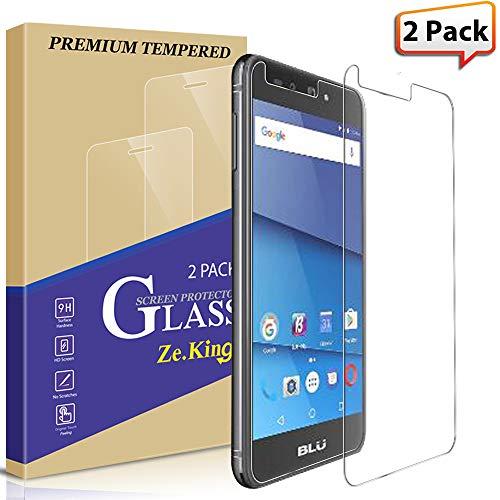[2-Pack]Blu Advance A5 Tempered Glass Screen Protector, ZeKing 0.33mm 2.5D Edge 9H Hardness [Anti Scratch][Anti-Fingerprint] Bubble Free, Lifetime Replacement Warranty