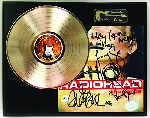 Radiohead Gold LP Record Reproduction Signature Series Limited Edition Display