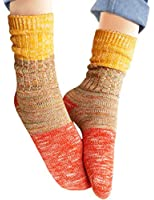 Vero Monte Women's Colorful Patterned Soft Warm Cotton Crew Socks