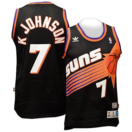 adidas Kevin Johnson Phoenix Suns Black Throwback Swingman Jersey