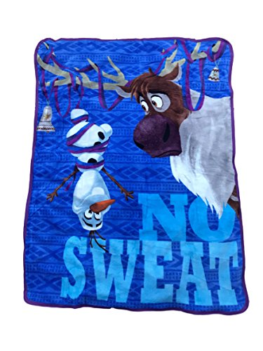 Disney's Olaf's Frozen Adventure Plush Throw Blanket - Featuring Olaf and Sven - For Adult, Child or Toddler