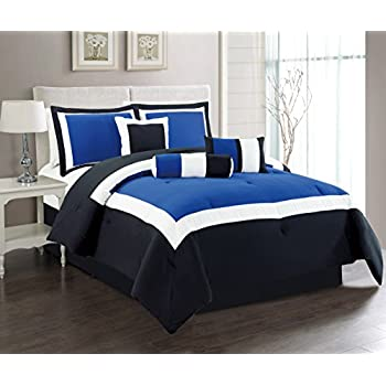 Amazoncom Superior Piece Luxurious Florence Comforter Set - Blue bedding and comforter sets