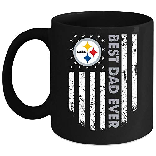 Best Dad Ever Pittsburgh Steelers Mug, I Love My Dad Coffee Mug, Happy Father's Day Mug (Coffee Mug 11 Oz - - Oz 11 Mug Steelers Pittsburgh