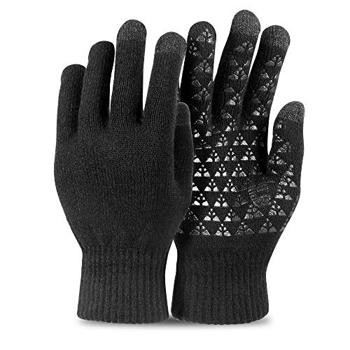 CHICVIE Knit Touchscreen Gloves, Sensitive and Unisex Lined Texting Warm Gloves for Women & Men