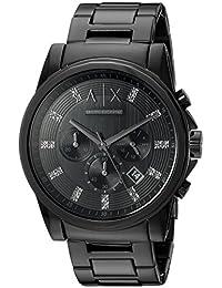 Armani AX2093 Exchange Reloj analógico con movimiento de cuarzo, negro, para hombre