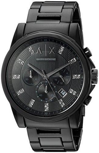 Armani Exchange Men's AX2093  Black  - Black Watch All Exchange Armani