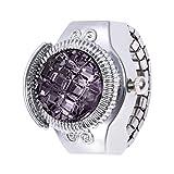 Fashion Women's Jewelry Round Ring Watch Stone Steel Elastic Ladies Wristwatch Gift by Malbaba