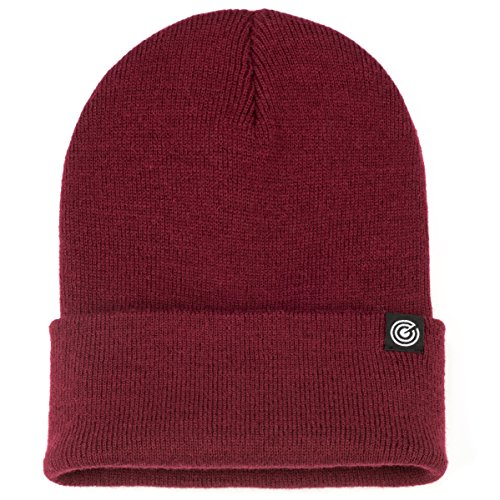 Revony Cuffed Beanie for Men & Women - Soft, Warm Knit - 10 Colors Maroon ()