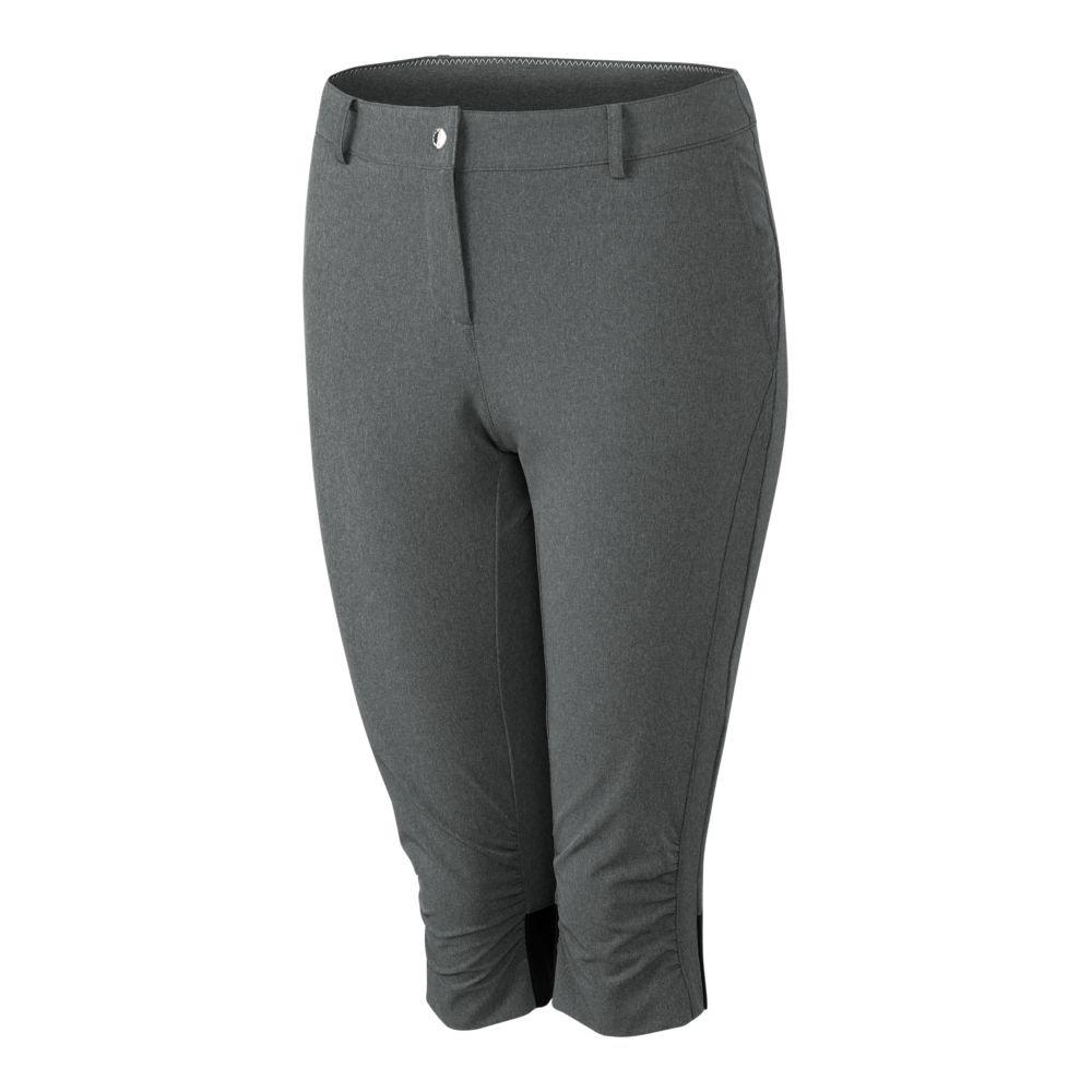 Cutter & Buck Annika Women's Moisture Wicking, UPF 50+, Stretch Morgain Long Short, Heather Onyx, 4