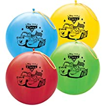 """Qualatex 14"""" Round Latex Punch Ball Balloon Officially Licensed Disney Pixar Cars"""