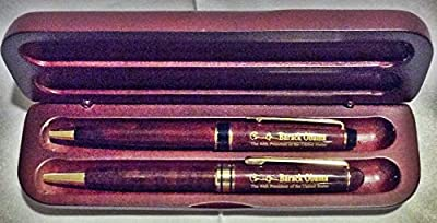 Barack Obama Inauguration Rosewood Pen Set with Wooden Case 2013