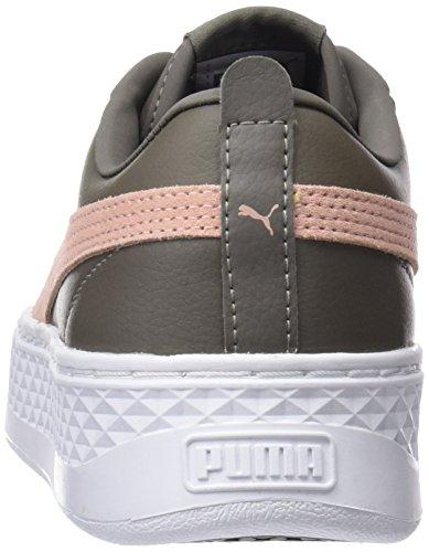 Marrone Puma L Donna Smash Platform Cord peach bungee Beige Sneaker xnTqfTEPX