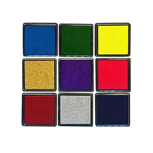 SBOZ Craft Ink Pads 9 Colors Washable Ink Pad for Stamps DIY Scrapbooking Card Making Finger Print (Crafts Making Card Scrapbooking)