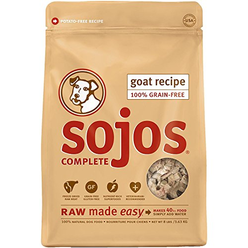 Original 40 Lb Bag - Sojos 557117 Goat Complete Grain-Free Dog Food, 8 lb