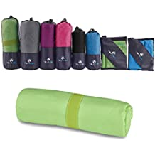 Microfiber Towel - Quick Dry Micro Travel Towels for Swimming Pool Camping Gym Sports Yoga and Pilates - by MountFlow …