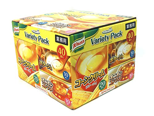 Knorr cup soup Variety box 40 packs, Corn cream Potage soup 20 packs, Potage soup 10 packs, Onion consomme soup ()