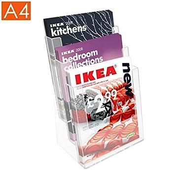 A4 folleto titular folleto - - dispensador - bayadera: Amazon.es: Oficina y papelería