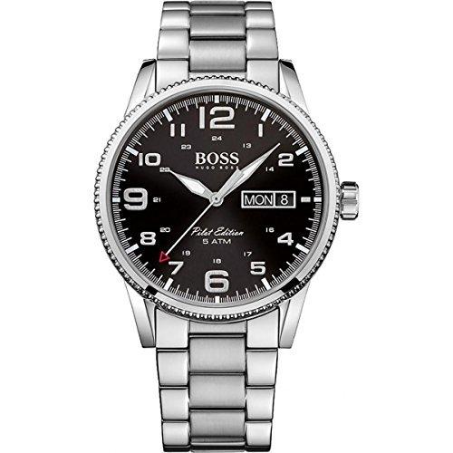 ac09de4a2567 Hugo Boss para hombre Pilot Edition analógico Dress Cuarzo Reloj  (importado) 1513327 by Hugo Boss  Amazon.es  Relojes