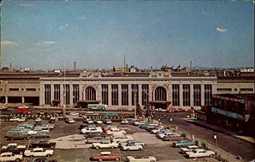 Pennsylvania Railroad Station Newark, New Jersey Original Vintage Postcard