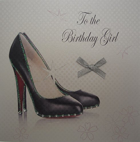 White Cotton Cards Black Stiletto to The Birthday