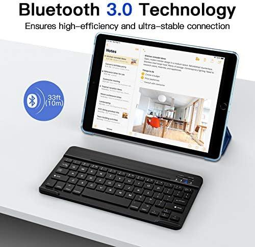 MoKo Clavier Bluetooth pour 2018/2017 iPad 9.7 6ème/5ème génération/iPad Pro 9.7/iPad Air/iPad Air 2, Clavier Ultra-Mince sans Fil avec Batterie Rechargeable et Confortable Tactile Slim - Noir