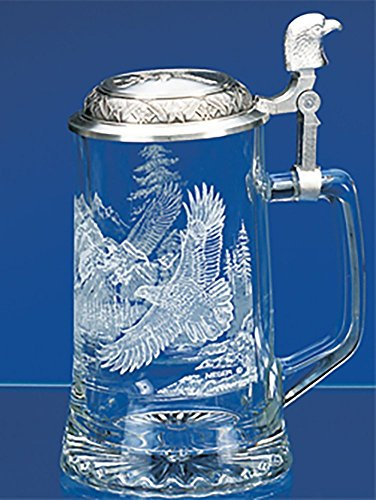 James-Meger-German-Glass-Bald-Eagle-Beer-Stein