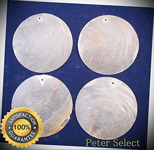 50 Capiz Shells White Round 3