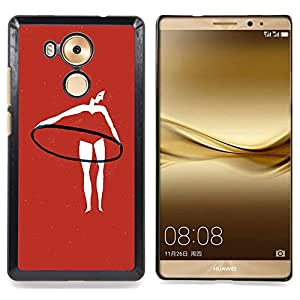 - Gymnastics Red Woman Hoop Training - - Snap-On Rugged Hard Cover Case Funny HouseFOR Huawei Mate 8