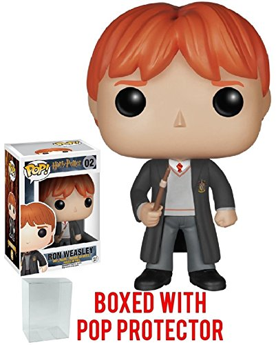 Funko Pop! Movies: Harry Potter - Ron Weasley #02 Vinyl Figure (Bundled with Pop BOX PROTECTOR CASE)