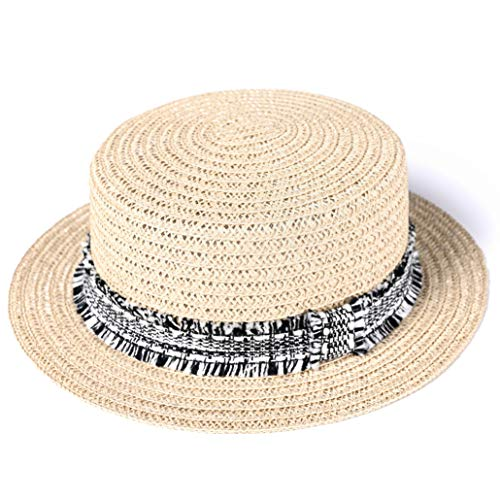 WOMEN'S STYLISH SUN STRAW PANAMA TOP HAT