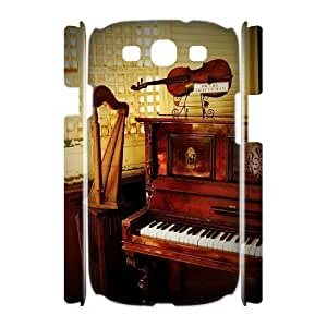Custom Cover Case with Hard Shell Protection for Samsung Galaxy S3 I9300 3D case with Musical Instruments lxa#447857 Kimberly Kurzendoerfer