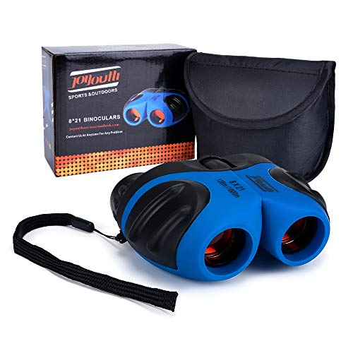 Gift for Kids, HITOP 8x21 Binoculars Shockproof Binoculars for Bird Watching,Outdoor Camping, for 7-12 Year Old Boys(Blue)