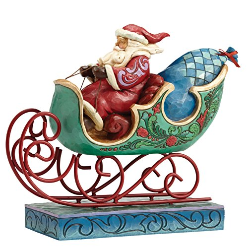 Enesco Jim Shore Heartwood Creek Wonderland Santa in Sleigh Figurine 8 in Creek Sleigh