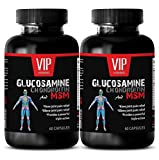 Product review for metabolism booster - GLUCOSAMINE CHONDROITIN & MSM 3200MG - msm supplement - 2 Bottles 120 Capsules