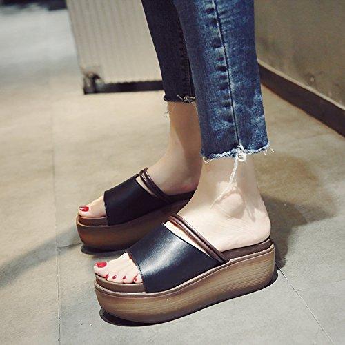 de con Zapatillas Nuevas Libre Moda YMFIE Inferior Aire Verano Grueso para Sandalias e A al Antideslizante La Mujeres q1BU1PwE