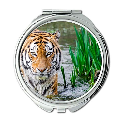 Mirror,makeup mirror,animal animal photography big cat,pocket mirror,portable -