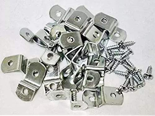 "888 Corp Extra Heavy Duty 1/4"" Canvas Offset Clips with Screws 10 Pack"