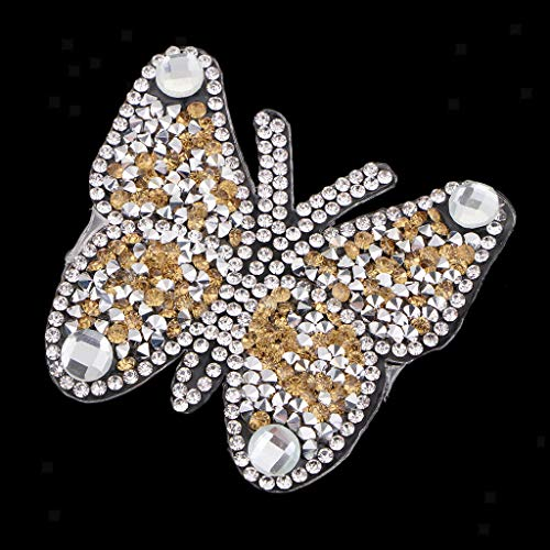 Hotfix Glass Crystal Faceted Flat Back Rhinestones Clothing Applique | Color - Yellow