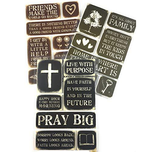 (Faith, Family, Devotional & Inspirational Stickers kit | Scrapbook Stickers Family & Faith Theme | Memories Scrapbooking Embellishments)